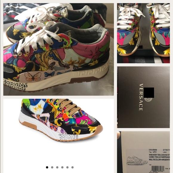 Men Versace Sneakers Only Worn Once